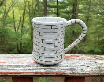Stone Mug, Speckled Mug, Ceramic Mug, Wheel Thrown Mug, Stoneware Mug, Handmade Mug