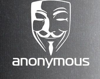 2x Anonymous Sticker