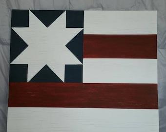 """23"""" x 23"""" Americana Handpainted Barn Quilt"""