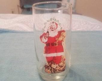 Drink Coca Cola Santa Christmas Glass Section II