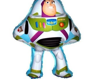 "28"" Buzz Lightyear Ballon, Disney Toy Story Decor, Kids Birthday Party"