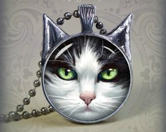 TUX10G Tuxedo Cat pendant