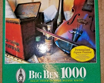 New MB Hasbro Big Ben Jigsaw Puzzle Country Violin 1000 Piece
