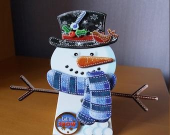 Christmas Card, Snowman Card, Box Card, Greeting Card, Handmade, Card, Christmas, 3D Card