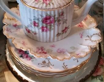 Lefton Porcelain Teapot Roses