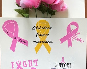 Cancer Awareness Vinyl Decals