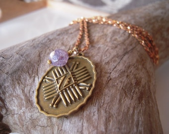 Lavender Navajo Tribal Necklace