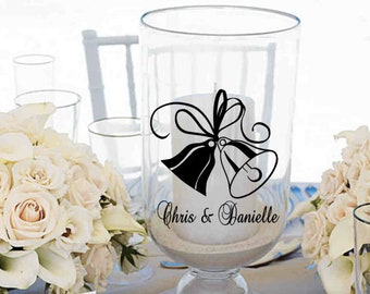 Personalized Wedding Bells  Vinyl Decal