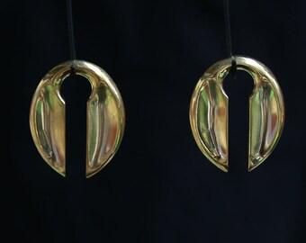 Brass ear weights simple 2