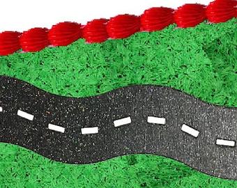 2pack Roadway Tracks Paper Layon Cake Decortion