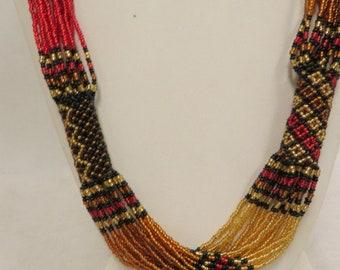 """Artisan """"Jane Bedford"""" African Necklace 17 Strands"""