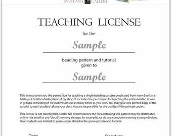 Teaching License SvetlanaGalleryBeads Bead Patterns