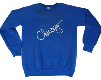 """Vintage 80s Chicago sweater that says """"Chicago"""" because Chicago is cool"""