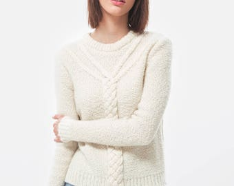 Cable sweater / Alpaca sweater / Alpaca pullover / Chunky knit / Chunky wool sweater / Oversized sweater / Cavo Jumper