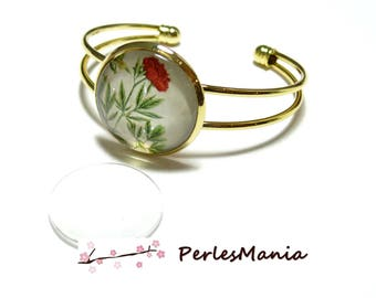 2 pieces: 1 gold ID23441 16mm and 1 cabochon bracelet holder