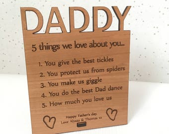 Personalised Father's day gift, Personalised Daddy plaque, Dad birthday, gift for Dad, daddy gift, Personalised Dad gift, gift from children