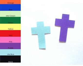 25 pack - Paper Cross Shape, Paper Cross Cut Outs, Cross Die Cuts, Party Supplies, Paper Die Cuts
