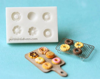 Dollhouse Miniature Donuts Mold - Silicone Mold
