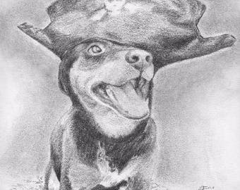 Handmade Pet Portrait, Custom Pet Portrait from Photograph, Photo Realistic Pet Drawing, Pet Portrait Drawing, Graphite Pet Drawing