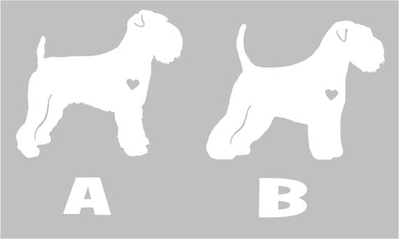 Soft Coated Wheaten Terrier Silhouette Vinyl Sticker Car Decal ...
