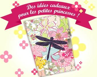 Diary, secretbook, purple glitter dragonfly