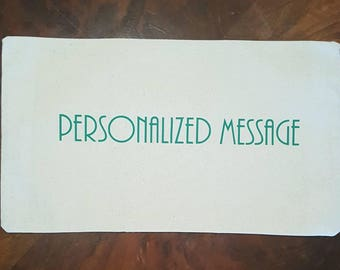 Personalized Message - Pillow