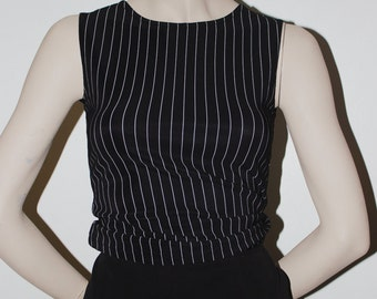 XS Black Striped Top - USA Made