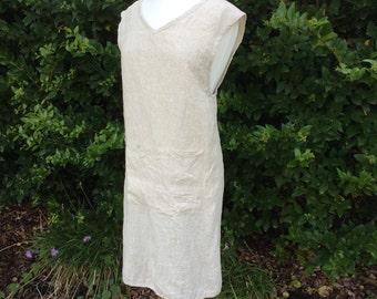 Linen Pinafore Dress, Linen Dress, Plus Size Pinafore dress, Overall Dress, ready to ship