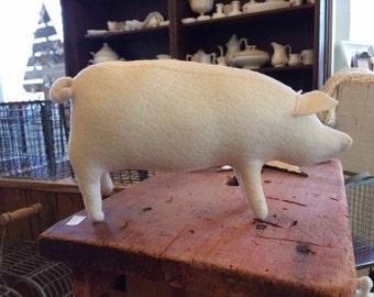 felt toy pig, stuffed pig, toy pig, felt pig, wedding favor pig