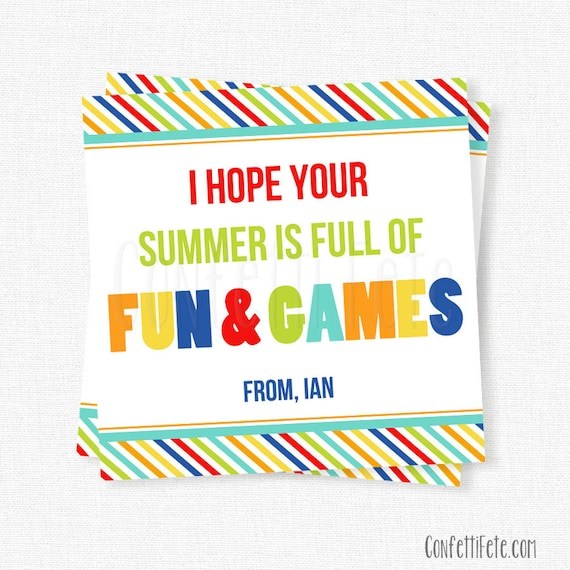 Summer fun games tag end of school year tag last day of negle Choice Image