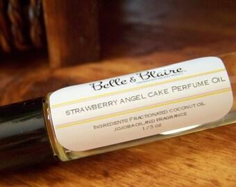 Strawberry Angel Cake Perfume Oil- Strawberries, Angel Cake, Buttercream- Roll On Perfume