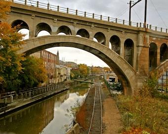 Manyunk Train Bridge, Philadelphia PA Photograph Print