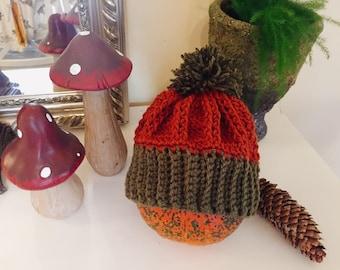 Pumpkin hat, toddler hat, Autumn hat, Halloween hat, fall hat,