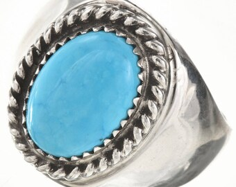 Custom Navajo Silver Gemstone Mens Ring Your Choice Turquoise Lapis Onyx