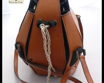 Leather petal bag Barenia