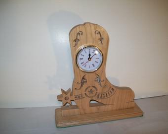 Cowboy Boot Clock