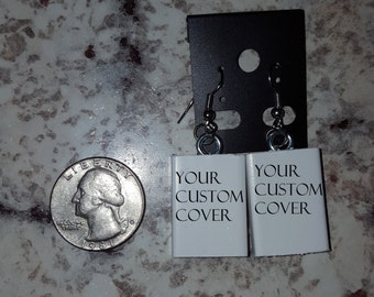 Custom Mini Book Earrings