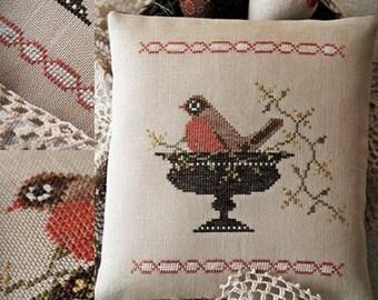 Spring Robin / Cross stitch pattern / PDF