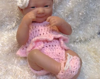 14 Inch doll clothes,9 inch doll clothes,doll set,outfit,Gifts for kids,choice of color,headband,top,bottoms,shoes