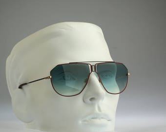 Rodier M149 404, Vintage aviator sunglasses, 80s mens & women rare and unique / NOS