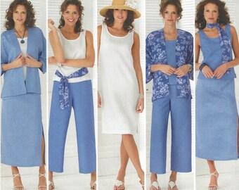 Karen Z Simplicity Sewing Pattern 4552 Womens Skirt, Capris, Dress or Top, Kimono Jacket Size 10 12 14 16 18 Bust 32 1/2 to 40 UnCut