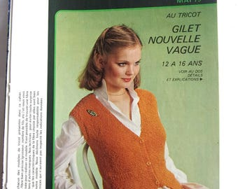 KNIT CROCHET vintage patterns and work - may 1979 booklet