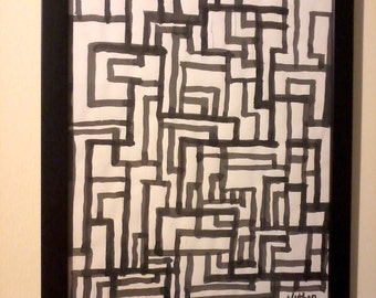 """The Socrates Perfect Picasso-Quality 11"""" X 14""""  (Framed) Abstract Modern Hyper-Cubism"""