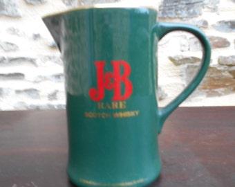 Vintage Stoneware J & B Whiskey Water Jug.