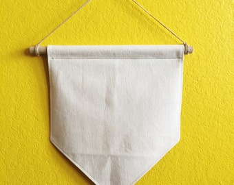 Blank Canvas Banner // Wall Hanging // Wall Banner // Small Banner