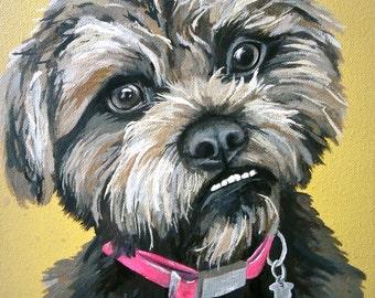 Custom Pet Portrait 12x12 canvas sample
