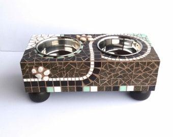 Bloomin Rectangular Diner, series 5 diner, dog feeder, elevated pet station, small dog bowls, raised dog feeder