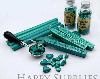 Turquoise / Green / Shimmering Green / Green Metallic Sealing Wax for Wax Seal Stamp Set
