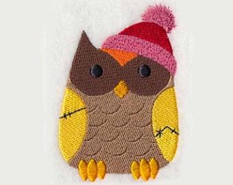 Crafty Owl Tea Towel   Bird Kitchen Towel   Embroidered Kitchen Towel   Personalized Kitchen   Embroidered Tea Towel   Owl Gifts   Owl Towel