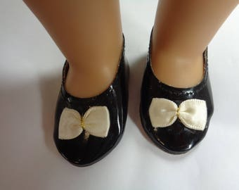 Black Patent Leather Doll Shoes for 18 inch Dolls- Fits American Girl Dolls
